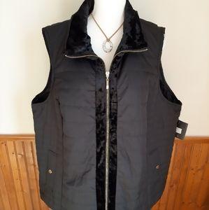 NWT Ellen Tracy Black Puffer Vest size 3X
